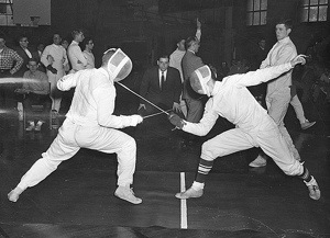 """Fencing Duel"" by uwdigitalcollections http://goo.gl/gXfNGK"