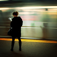 On the platform, reading -- by Mo Riza http://goo.gl/CnGvHd